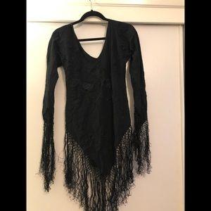 Forever 21 size M silk fringe dress